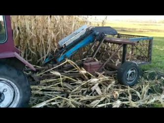 Комбайн для уборки початков кукурузы своими руками