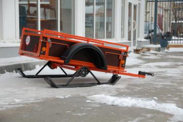 Прицеп на лыжах для мотоблока