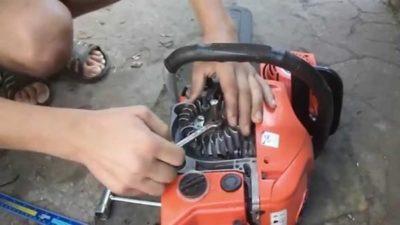 Как снять магнето на бензопиле?